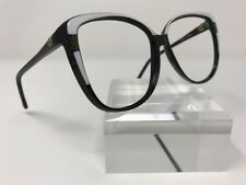 Authentic Bausch & Lomb Eyeglasses WO282 18 58-15 Black And White Italy V929