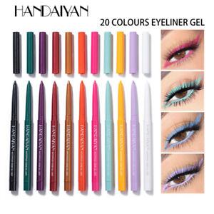 Waterproof and Sweatproof Non-smudge Eyeliner Pen 20 Colors Ultra-fine Eyeliner