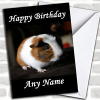 Guinea Pig Birthday Customised Card