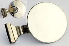 Abrazadera-En Quarterlight Coche Clásico Circular Adelantamiento Espejo Con Vidrio Convexo