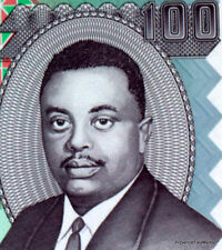 Burundi billet Neuf de 100 FRANCS macons au travail Pick 37 Prince RWAGASORE