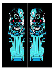 Terminator 2 Pinball Headbox Decal Set Left & Right Plus Coin Door Decal
