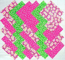 "SPRING DAISIES 5"" Squares, 100% cotton Prewashed, Quilt Block Fabric (#E/111A)"
