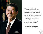 """President Ronald Reagan """"spends too much"""" Famous Quote 8 x 10 Photo Picture #tm1"""