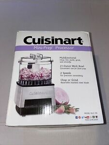 📀 Cuisinart Mini Prep Processor Model DLC-1SS Brushed Stainless. New in box.