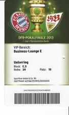 Ticket / Eintrittskarte DFB Pokalfinale 2013 FC Bayern München - VFB Stuttgart