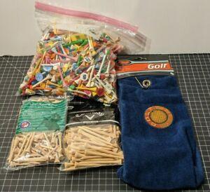 Bulk Lot Wood Golf Tees Sizes 3 1/4, 2 1/8, Ball Markers, Divot Repair Tools
