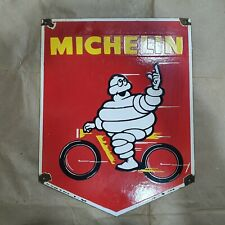 MICHELIN TIRES VINTAGE PORCELAIN SIGN 15 1/2 X 18 INCHES