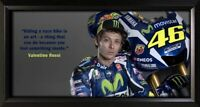 Valentino Rossi Framed Photo Motivational Poster