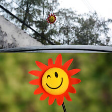 Mini Yellow Face Sun Sunshine Sunflower Car Auto Antenna Pen Topper Aerial Ball
