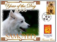 SAMOYED CHINATOWN YEAR OF THE DOG STAMP COVER 9