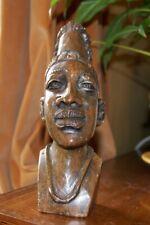 Zimbabwe soap stone Shona sculpture of woman's head