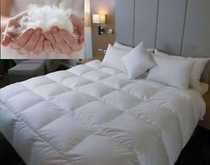 Duck Feather Down Duvet Quilt Bedding Lightweight - All Sizes and Tog Available