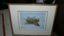 "RARE ARCHIBALD THORBURN Pencil signed Print - ""GROUSE SHELTERING"""