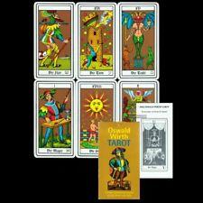 NEU DEUTSCHES GOLDENES OSWALD WIRTH TAROT DECK 78 Tarotkarten c.1997