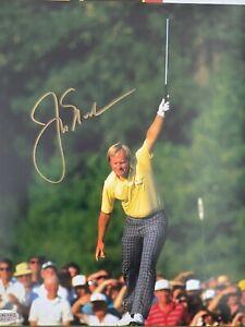 JACK NICKLAUS Hand Signed Autographed 8x10 Photo GOLF LEGEND PGA -- COA