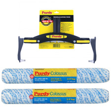 """Purdy Adjustable Roller Frame + 2 x 18"""" Colossus (1/2"""" Nap) Refills"""