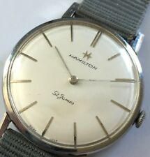 VINTAGE lavoro Hamilton St. James Ultra Slim Gents Orologio 17 jewel SWISS CAL 54