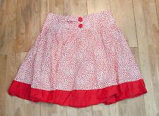 George Red & White Polka Dot Medium Length Skirt - Size 12