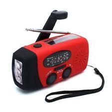 Wind Up Dynamo Radio Solar Emergency Flashlight LED Torch Power Charging Bank