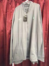 Nike Boston Celtics Dri-Fit Track Gray Jacket Full Zip Mens 4XLT NWT