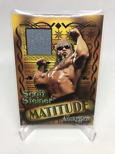 WWE Scott Steiner 2003 Fleer Aggression Matitude Event Used Mat Relic Card