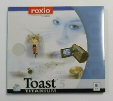 """BRAND NEW"" Roxio Toast 5 Titanium for Mac With Serial Numbers. FACTORY SEALED"