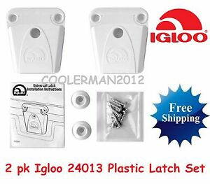 2 NEW IGLOO COOLER PART #24013 - LATCH POST AND SCREWS PARTS KIT PLASTIC