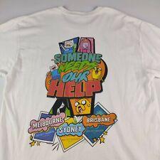 Adventure Time Australian Tour 2017 White T-Shirt L/XL