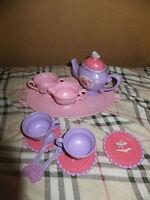 Barbie Plastic Tea Set~Pretend Girl Play