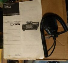 ICOM IC-706 IC706 HF 144mhz 6M 2M WITH separation kit mounts mic etc..