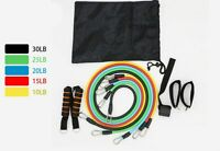 Resistance Bands 11pcs Training Exercise Yoga Tubes Pull Rope,Rubber Expander