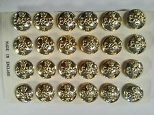 (#3) 24 Grenadier Guards Military Uniform Buttons Vintage 14mm Un-Used Unissued