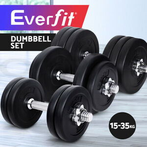 Everfit 15-35KG Dumbbells Dumbbell Set Weight Plates Home Gym Fitness Exercise