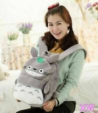 Small Grey Totoro Plush Anime Kids Shouler SchoolBag Backpack Bag approx28* 35