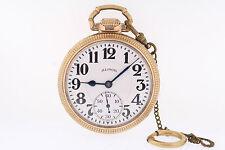 Illinois 10k GF 60 Hour Bunn Special 16s 21 Jewel Type III Railroad Pocket Watch