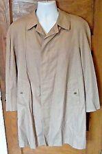 EUC Aquascutum London Aqua 5 38S 38 S Beige Rain Trench Coat Made in Canada