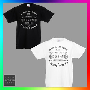 Brothers & Sisters Are Friends Forever TShirt T-Shirt Tee Kids Unisex Childrens