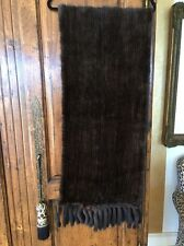 """Fur Scarf Real Knitted Fur With Tail Fringe Ranch 78"""""""