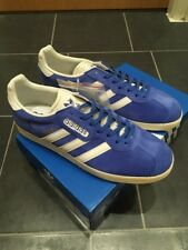 Adidas Gazelle Super UK 9 OG Azul CW DEADSTOCK interiores BB5241 Retro 70s 80s Jeans