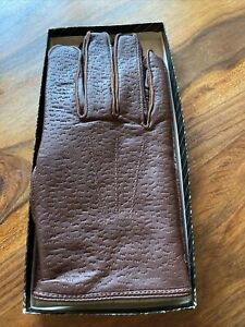 Mens Brown Leather Gloves l Large