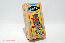 Yahtzee Nostalgia Games Series in Wooden Box Parker Brothers 2004 COMPLETE