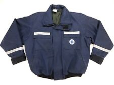 Mustang Survival Blue Reflective Foul Weather FR Nomex Jacket MJ6214 X-Large XL
