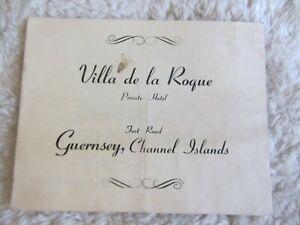 Villa De La Roque-Vintage Information Booklet-Guernsey-Private Hotel