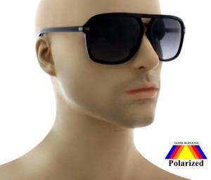 NWT Men Retro Aviator Polarized Sunglasses Bryson Rich Shades Square Frame