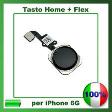 TASTO CENTRALE HOME BUTTON COMPLETO FLAT FLEX PER IPHONE 6 NERO