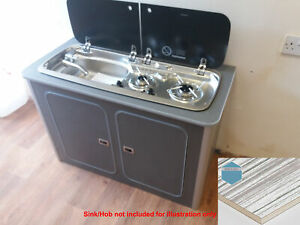 Camper Kitchen Pod Light Stripe Lightweight Ply Unit For Smev T5 T6 Vivaro Vito