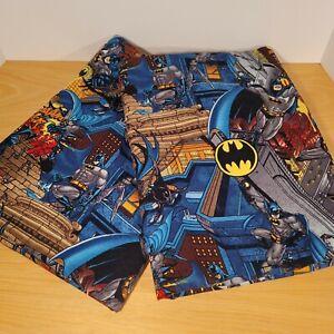 Vintage Batman Window Curtains Panels 40x55 Set 2 Superhero DC Comics Handmade