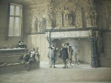DAY & HAGUE LOUIS HAGHE LITHOGRAPH 1840 HALL OF JUSTICE BRUGES BELGIUM