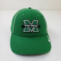 Nike Dri Fit Michigan Marshall Thundering Herd Green Hat Cap Strap Back Legacy